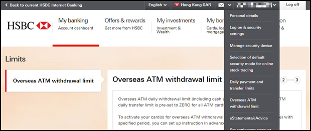 overseas atm withdrawal limit